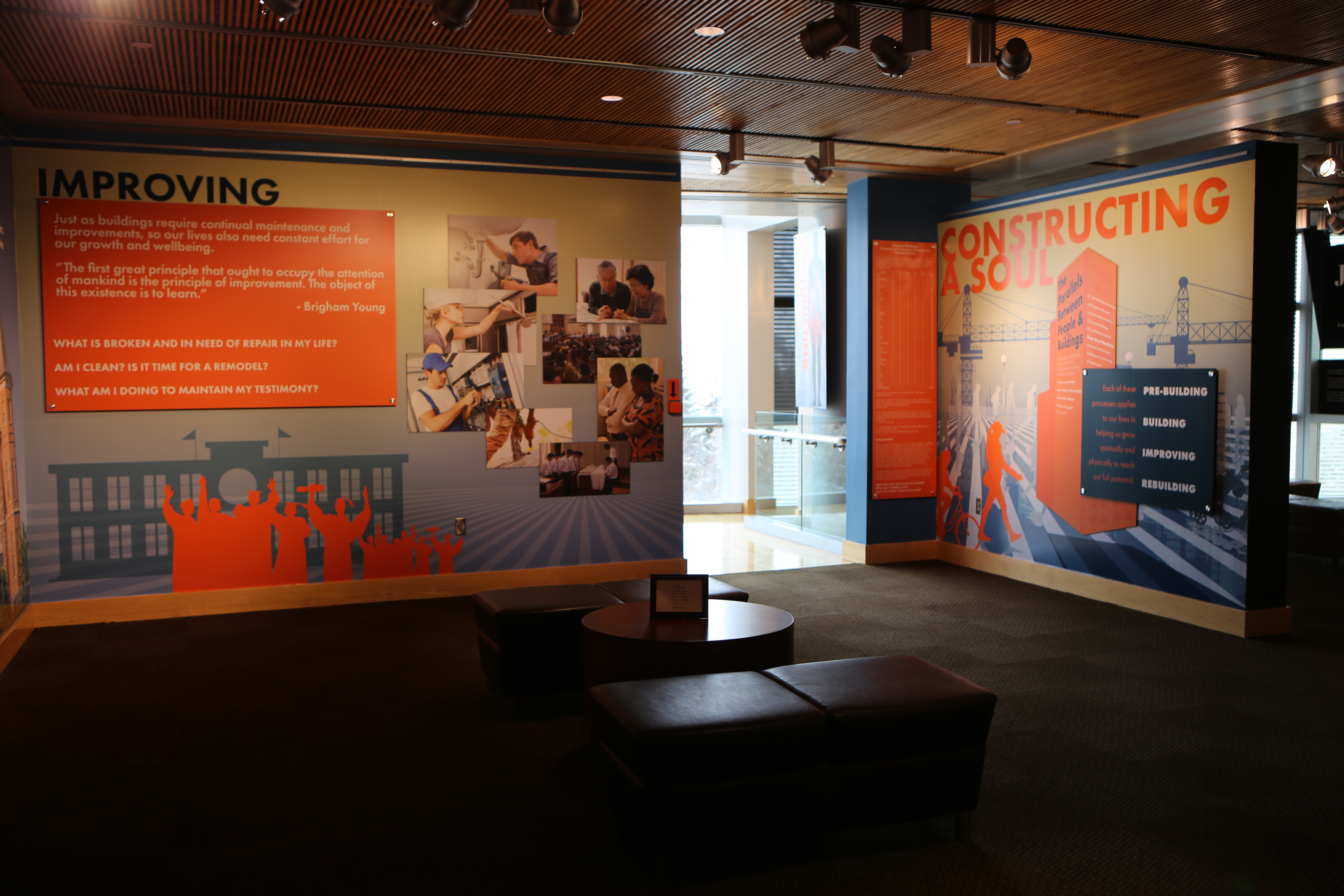 """""""Constructing a Soul"""" will be on display at Brigham Young University's Joseph F. Smith Building for the next three years."""