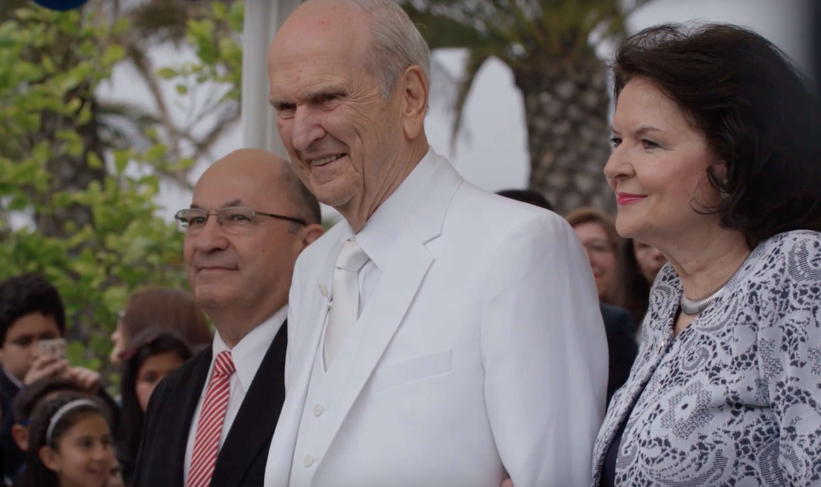 President Russell M. Nelson and Sister Wendy Nelson at the Concepcion Chile Temple dedication.