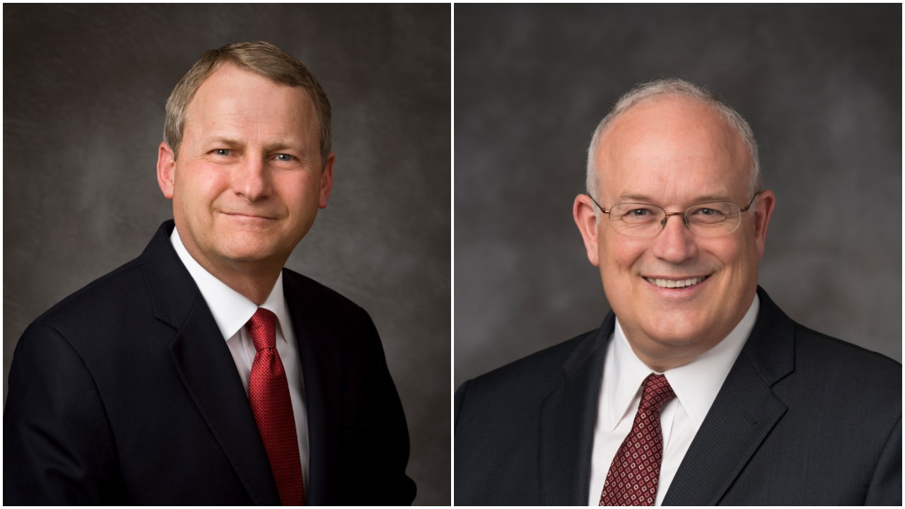 Elder LeGrand Curtis Jr., left, will begin serving as the Church Historian and Recorder beginning Aug. 1, 2019. Elder Paul V. Johnson will return to serve as Commissioner of the Church Educational System, a calling he previously held from 2008 to 2015.