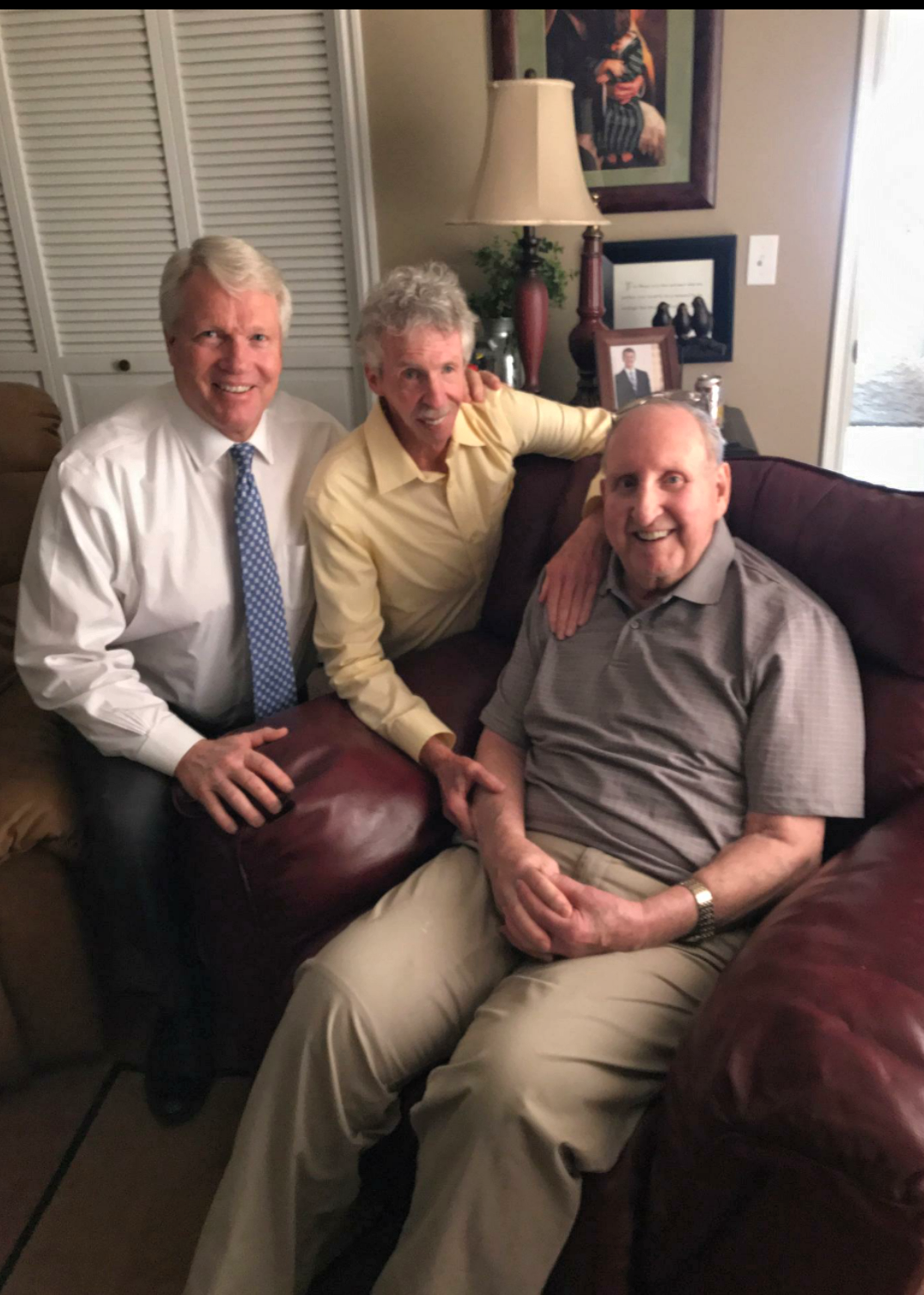 YoBrother Stephen W. Owen, left, visited with his former mission president and