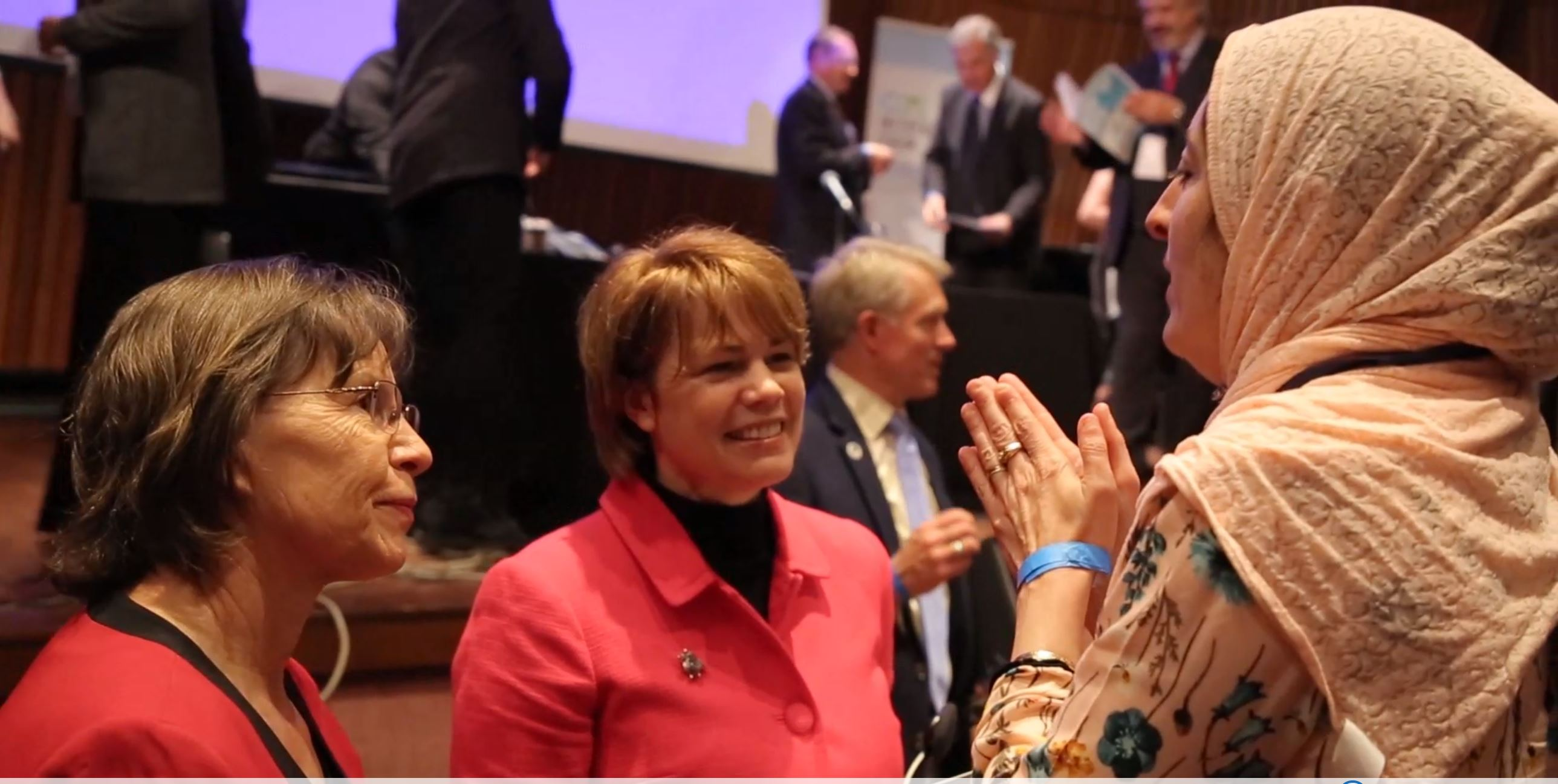 Sister Sharon Eubank, director of LDS Charities and first counselor in the Church's Relief Society general presidency, at the G20 Interfaith Forum in Buenos Aires, Argentina, Sept. 27, 2018.