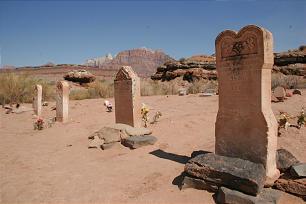 Grafton Cemetery tombstones.