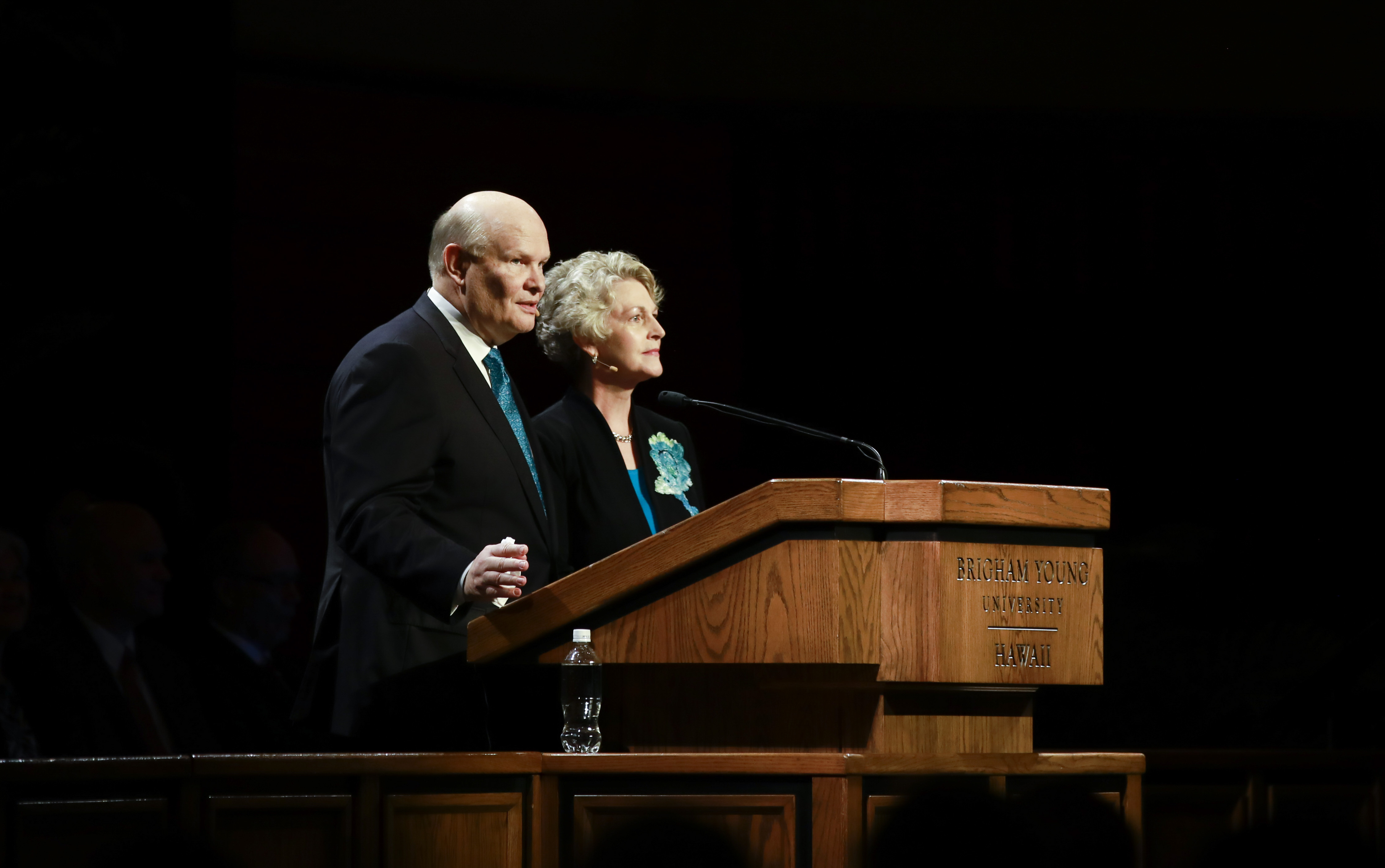 Elder and Sister Renlund speak at the worldwide devotional broadcast from BYU Hawaii on Sunday, Jan. 13.