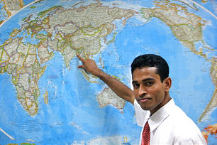 Elder Isaac Hawlader, who joined the Church four years ago after reading the Book of Mormon, is the first missionary from Bangladesh to attend the MTC in Manila.