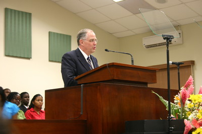 Elder Neil L. Andersen of the Presidency of the Seventy, speaking at the general session.