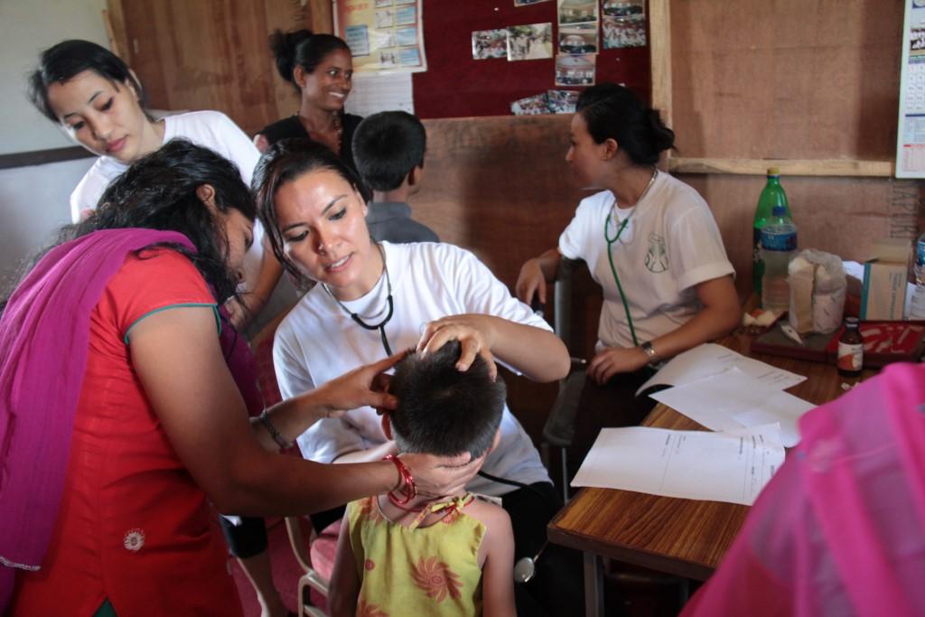 Usha Maharjan provides care to children in the slums near Chitwan, Nepal.