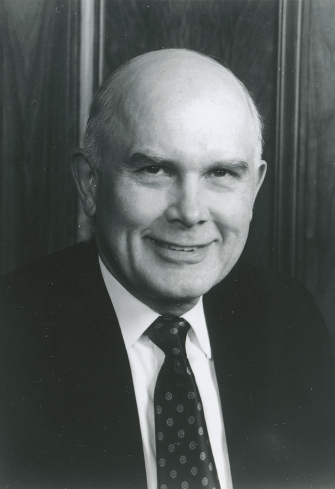 Elder Dallin H. Oaks, member of the Quorum of the Twelve Apostles photo for election of officers and presentation of awards of Utah Bar association.
