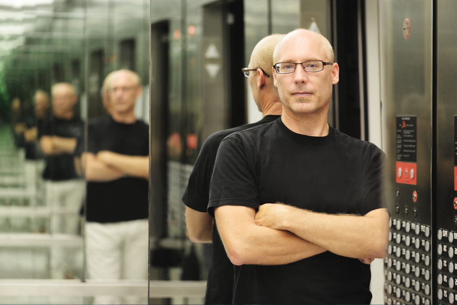 """Lansing McLoskey, composer of the piece """"Zealot Canticles: An oratorio for tolerance."""" Conductor Donald Nally and The Crossing (a professional chamber choir) won a Grammy Award for the Best Choral Performance of McLoskey's piece in 2019."""