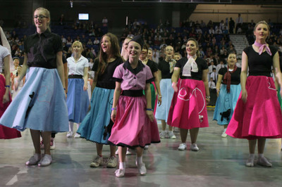 """Youth from the Vancouver British Columbia Temple District participate in youth cultural temple celebration, """"Beacon To the World."""""""