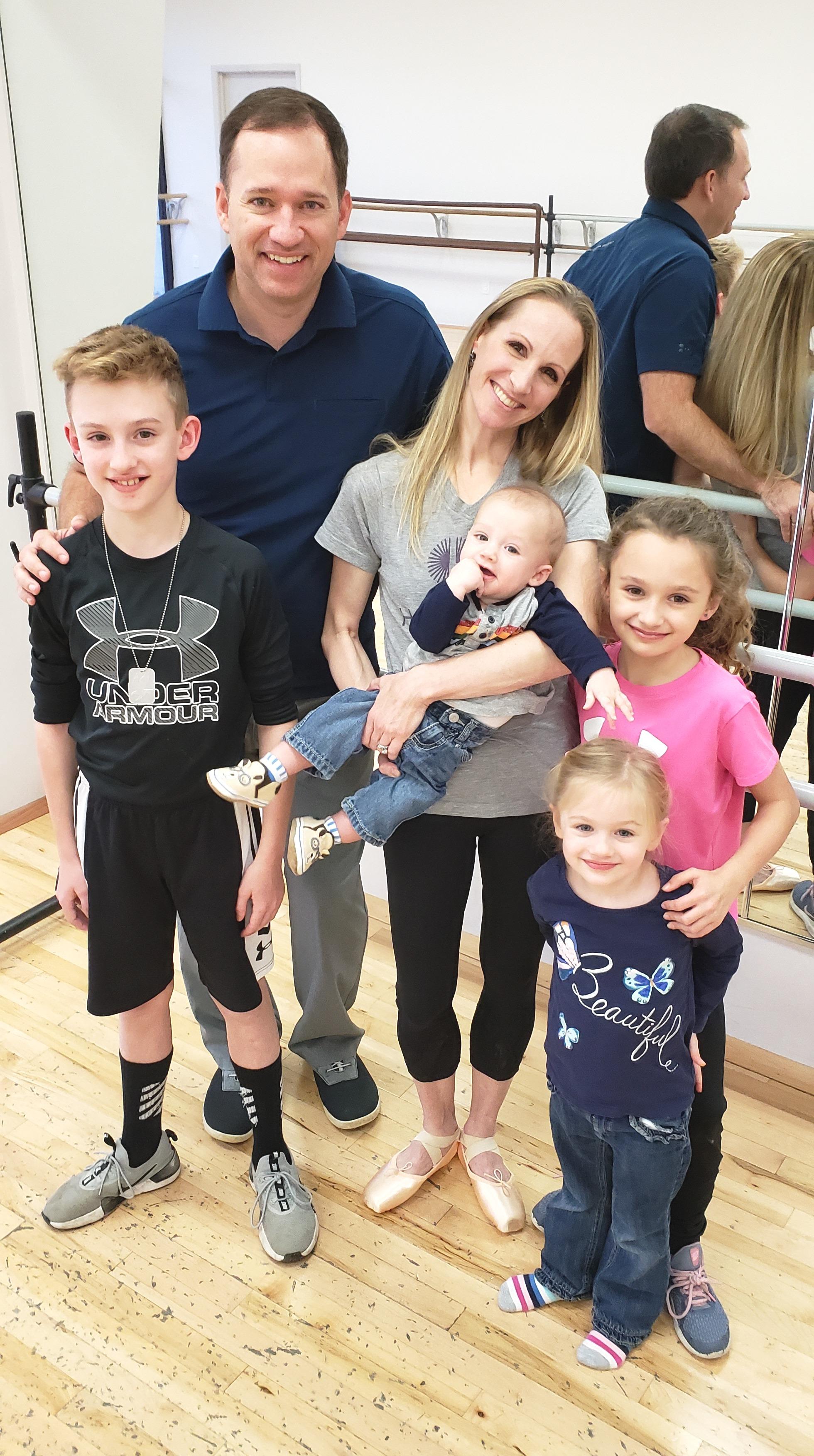 Sara Webb Bardo - the Bardo family at home in a dance studio.