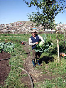 A war veteran is among those helped by Church humanitarian farm project.