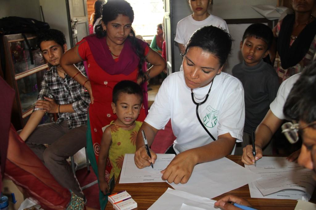 Usha Maharjan works with Nepali children in the slums near Chitwan, Nepal.