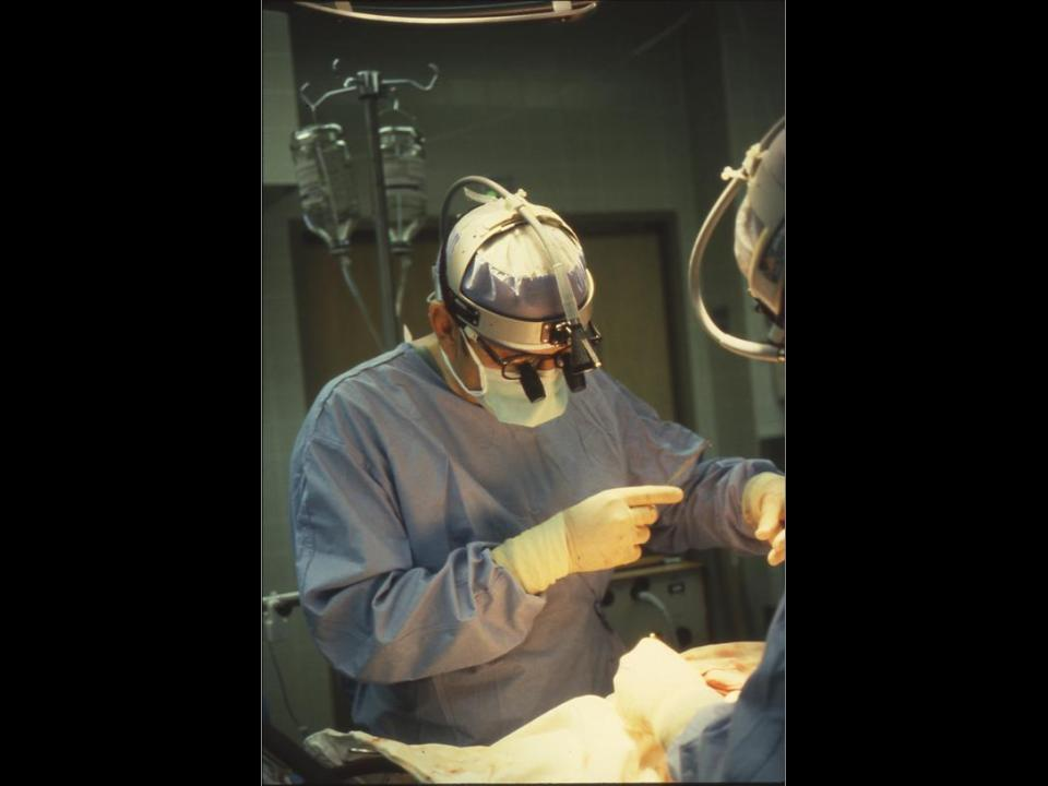 Dr. Russell M. Nelson performs cardiac surgery.