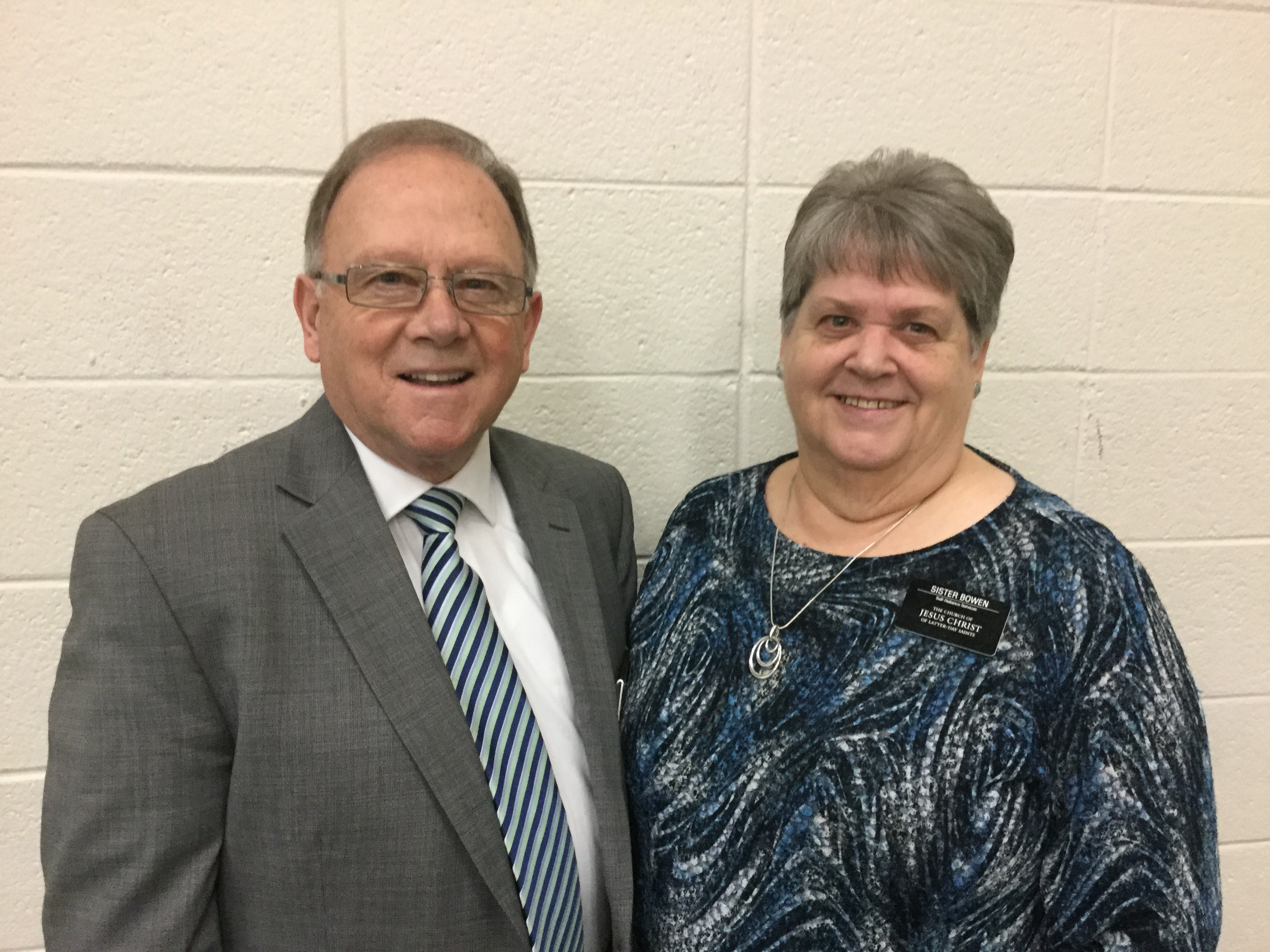 Elder Bruce Bowen and Sister Valerie Bowen are serving as self-reliance missionaries in the Tennessee Knoxville Mission.