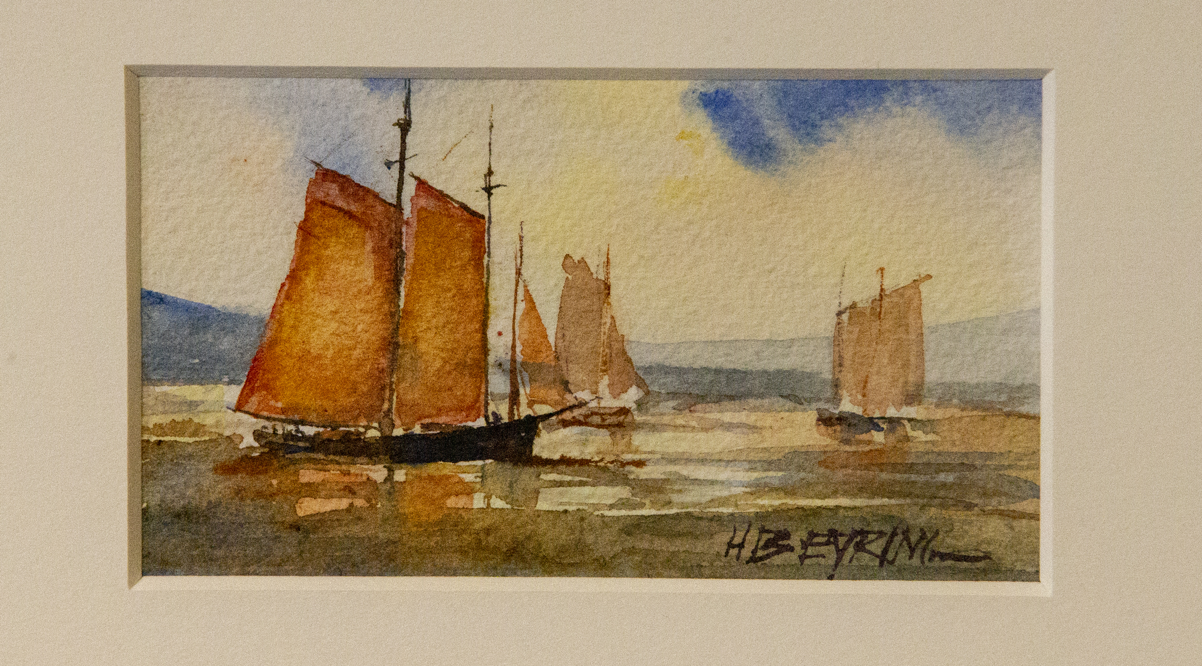 A watercolor painting by President Henry B. Eyring on display in a special exhibit at the Church History Museum in Salt Lake City.