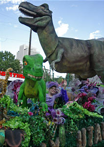 """OUTSTANDING ANIMATION AWARD -- The Bountiful North Canyon Stake's float entitled """"Early Utah Families"""" during the Days of '47 parade Saturday, July 23, 2005. Photo by Jason Olson (Submission date: 07/25/2005)"""