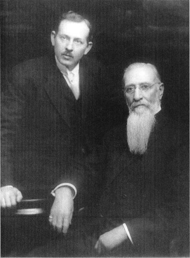 President Joseph F. Smith and his son Joseph Fielding Smith, 1914