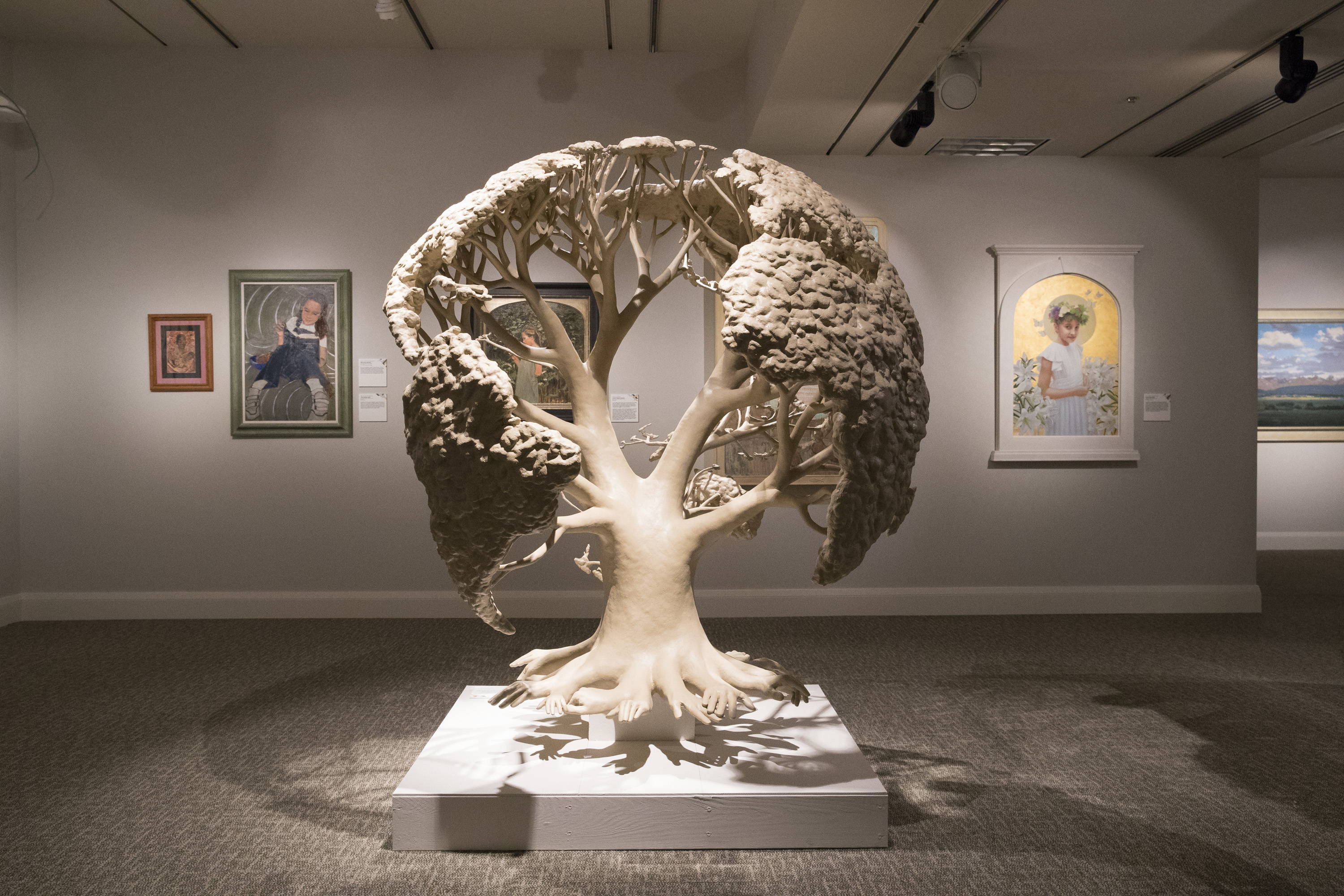 The more than 150 pieces of art combine to form the Church's 11th International Art Competition represent a variety of media, from painting and sculpture to woodcarving and photography.