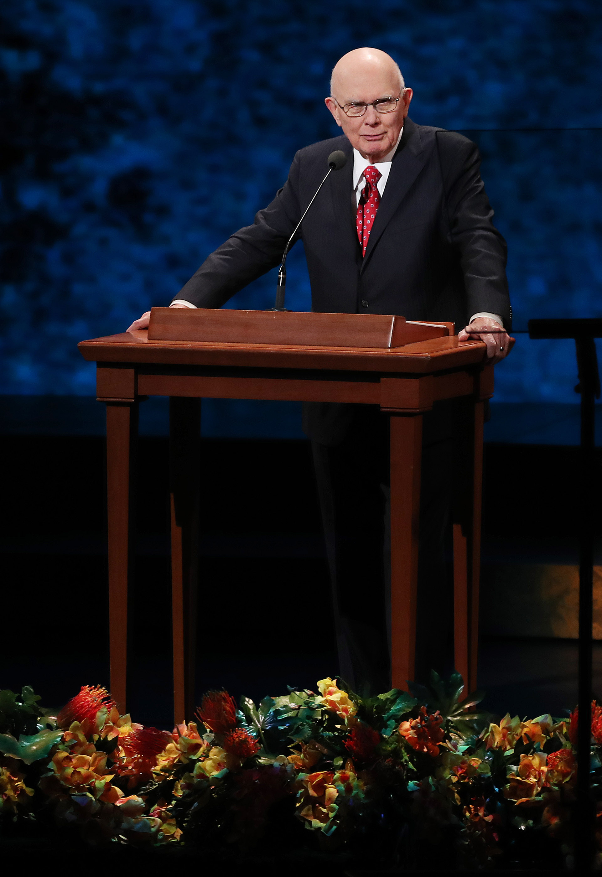 "President Dallin H. Oaks, first counselor in the First Presidency of The Church of Jesus Christ of Latter-day Saints, speaks during ""Be One"" in Salt Lake City on Friday, June 1, 2018. The event celebrates the 40th anniversary of the 1978 revelation on the priesthood."