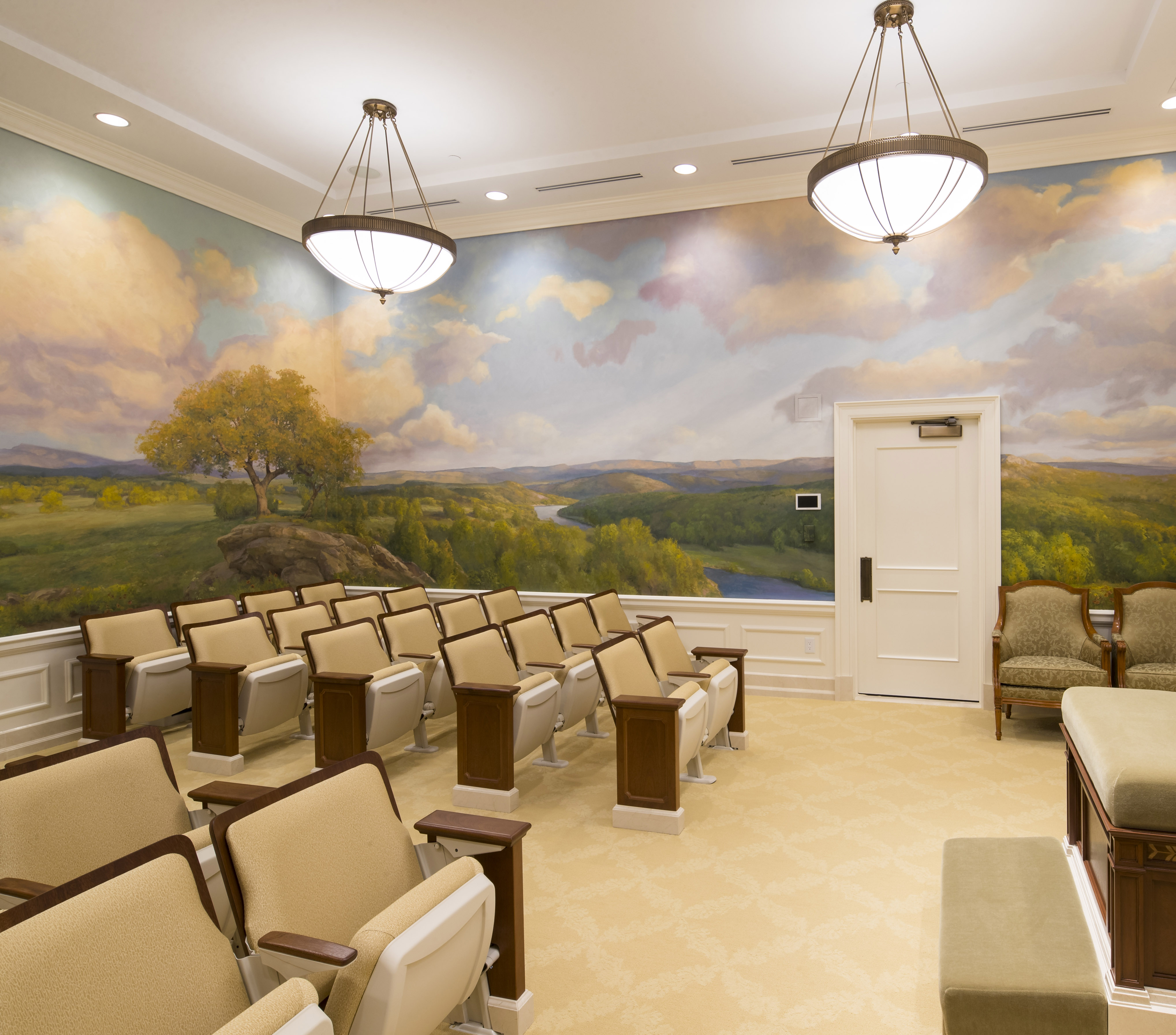An instruction room in the Oklahoma City Oklahoma Temple.