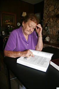 Louise F. Larson, who wrote Pomerene's history, has been a member of the Pomerene Ward for 72 years.