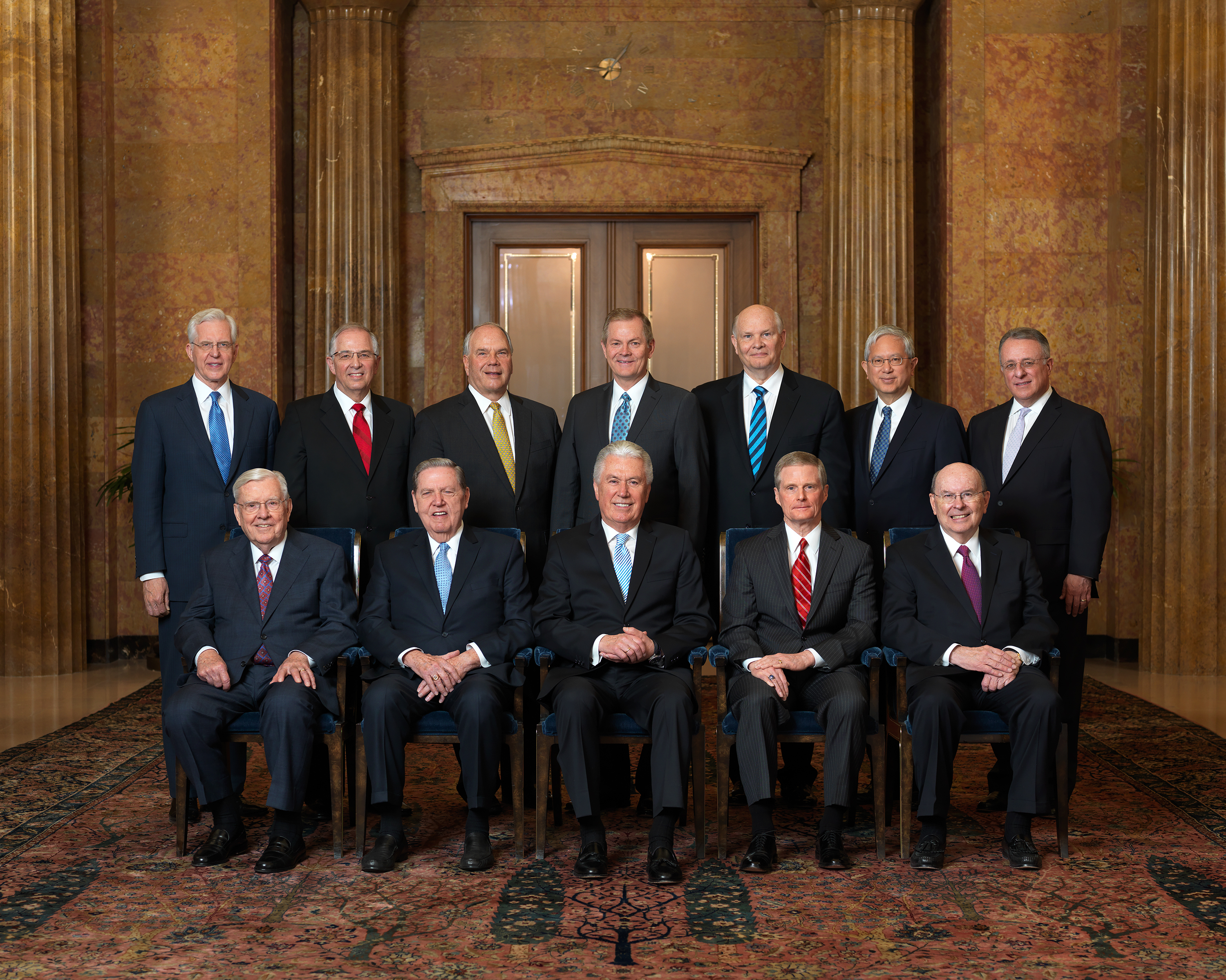 The Quorum of the Twelve Apostles of The Church of Jesus Christ of Latter-day Saints.