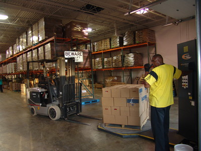 Items from the Bishops' Storehouse in Tucker, Ga., are prepared for shipping into areas affected by recent tornadoes.