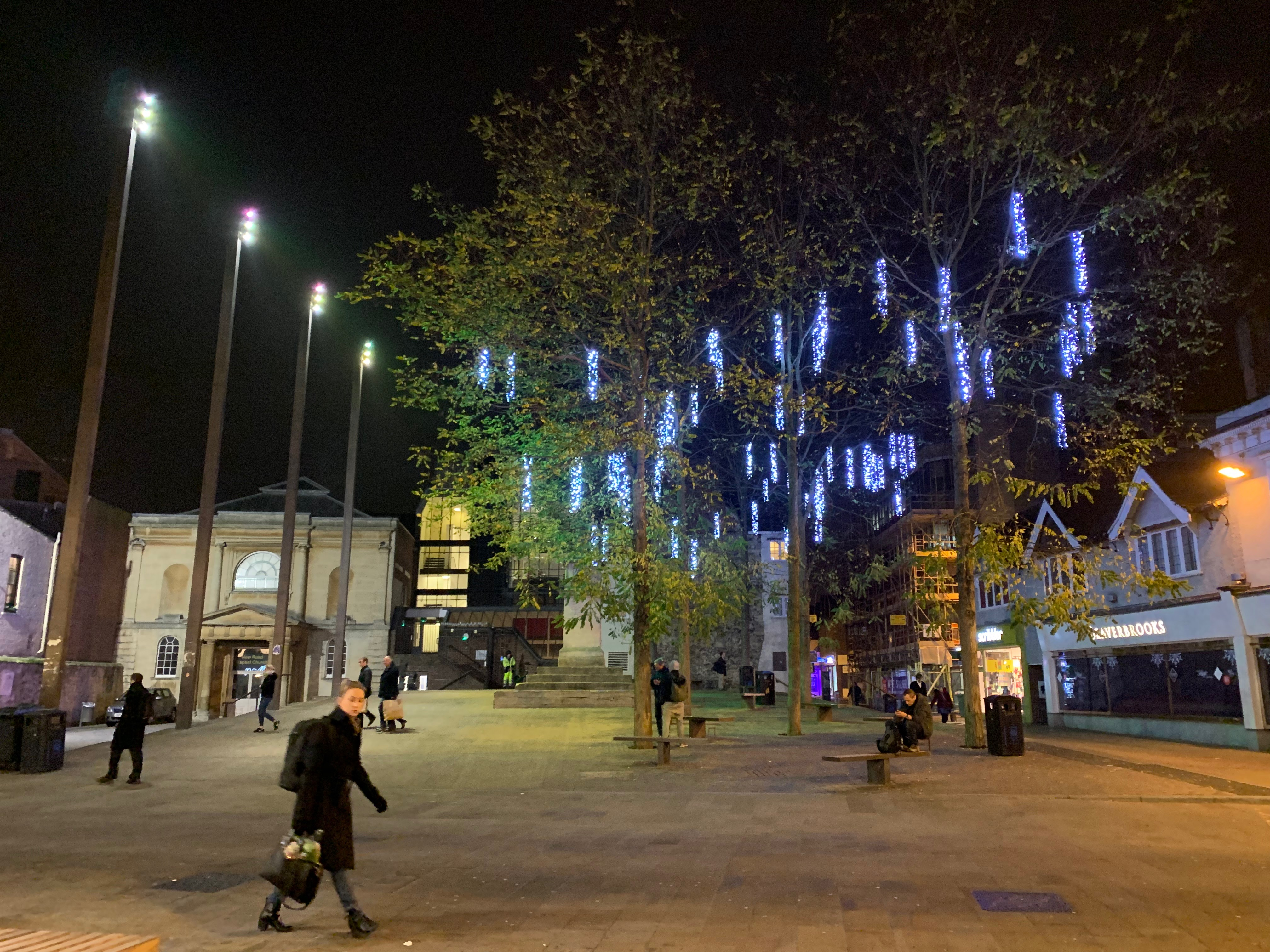 Seasonal lighting in Oxford, England, on Thursday, Nov. 22, 2018.