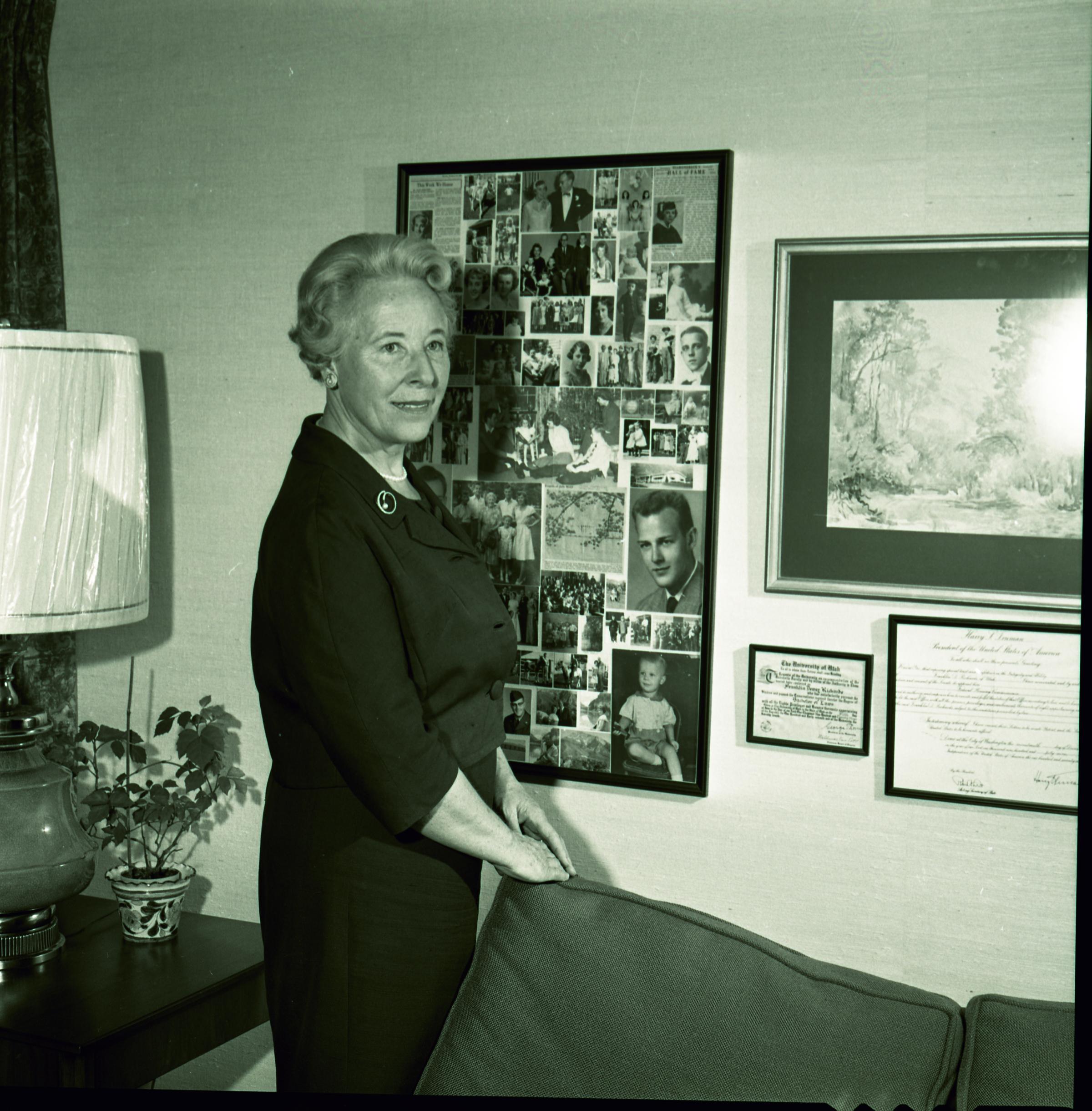 Sister Helen K. Richards, wife of Elder Franklin D. Richards of the Presidency of the Seventy, circa 1964.