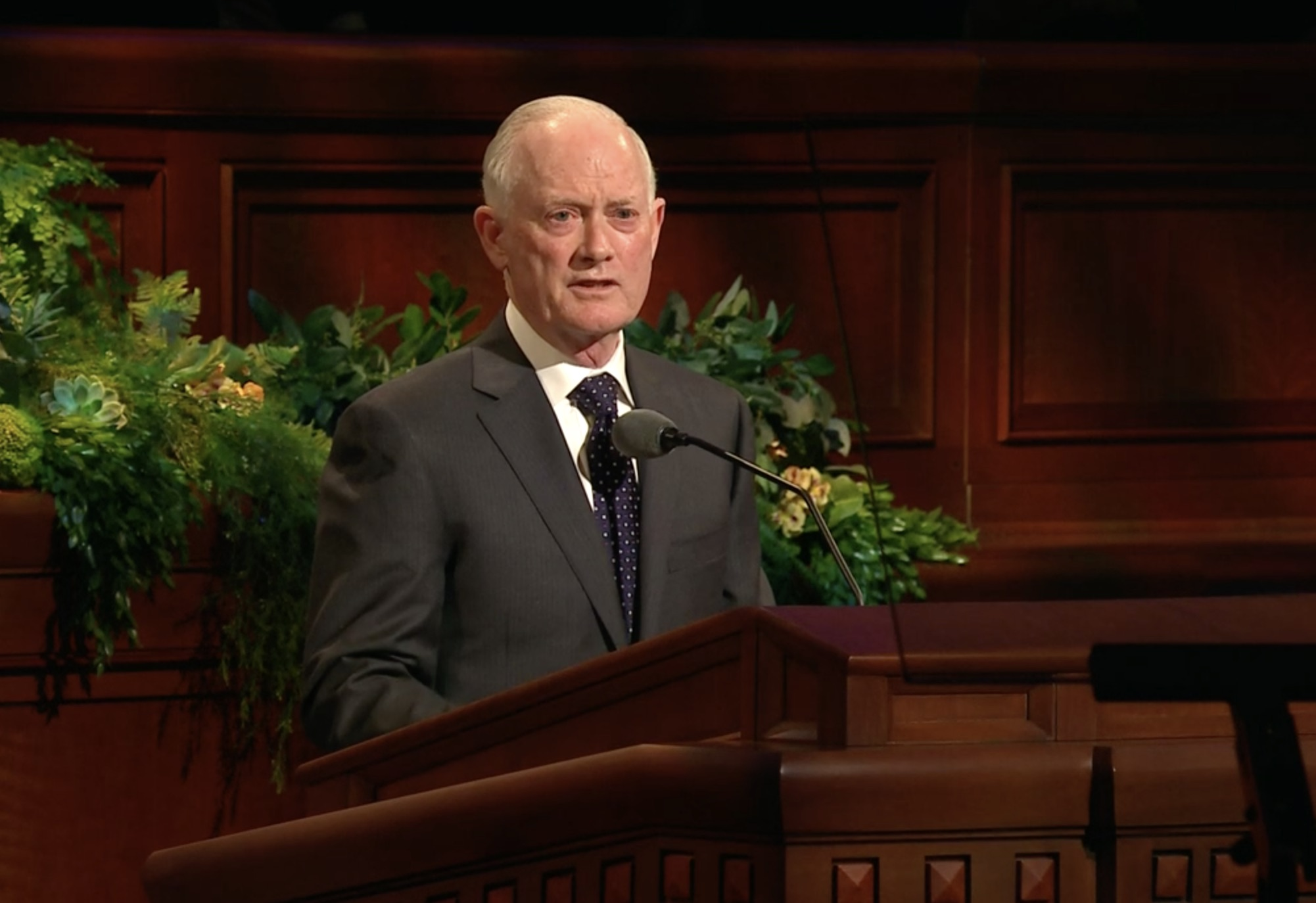Elder Kim B. Clark, a General Authority Seventy, gives his address during the priesthood session of the 189th Annual General Conference on April 6, 2019.