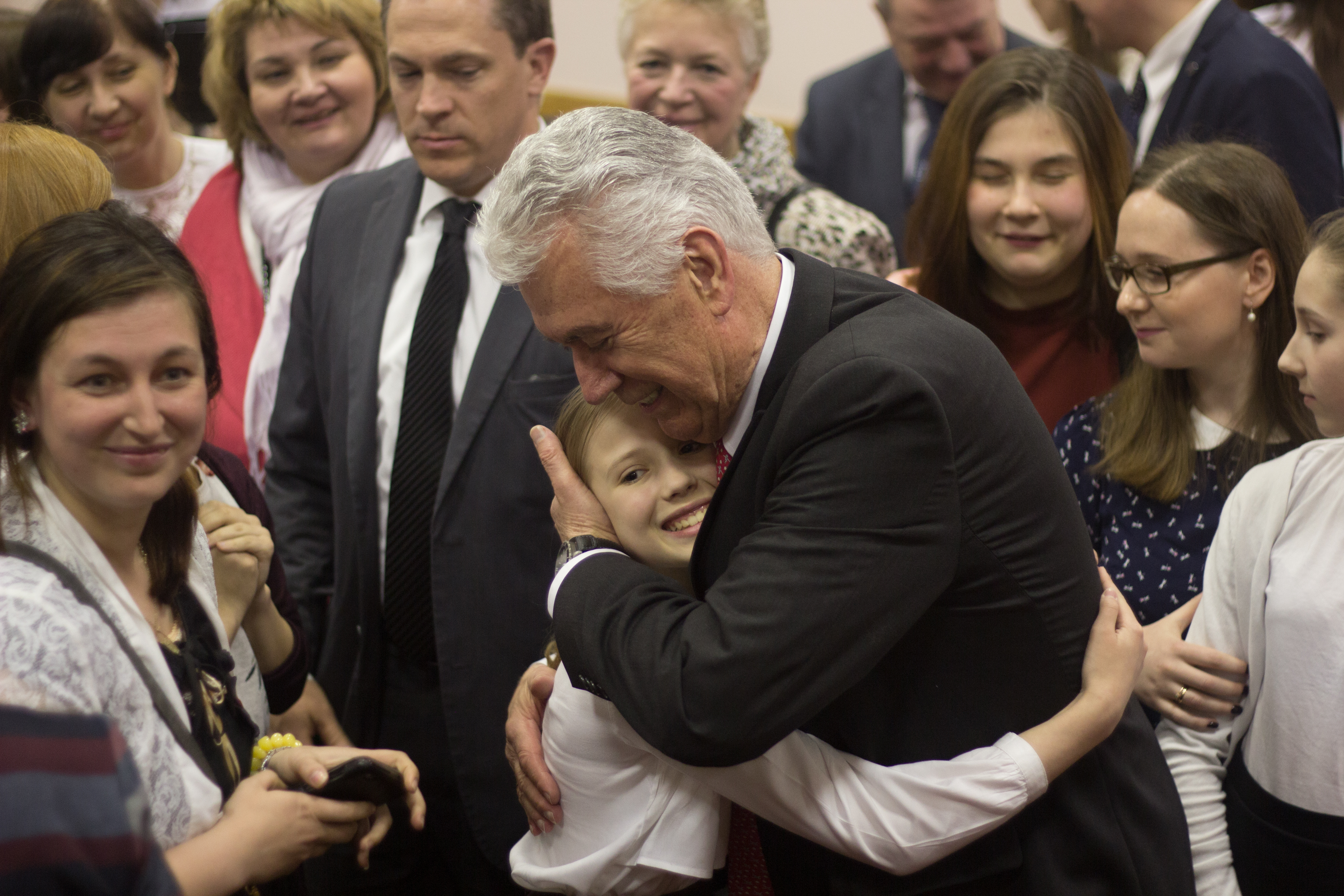 A warmth was shared between Elder Dieter F. Uchtdorf of the Quorum of the Twelve Apostles and Church members in Russia during his visits to Moscow and St. Petersburg in late April 2018.