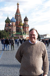 In Moscow's Red Square, Cole Durham stands in front of St. Basil's Cathedral. The fall of the Soviet Union opened many doors for his work. In Moscow's Red Square, Cole Durham stands in front of St. Basil's Cathedral. The fall of the Soviet Union opened many doors for his work.