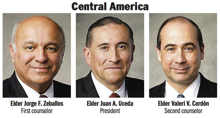 Central America Area presidency: Elder Juan A. Uceda, Elder Jorge F. Zeballos and Elder Valeri V. Cordón.
