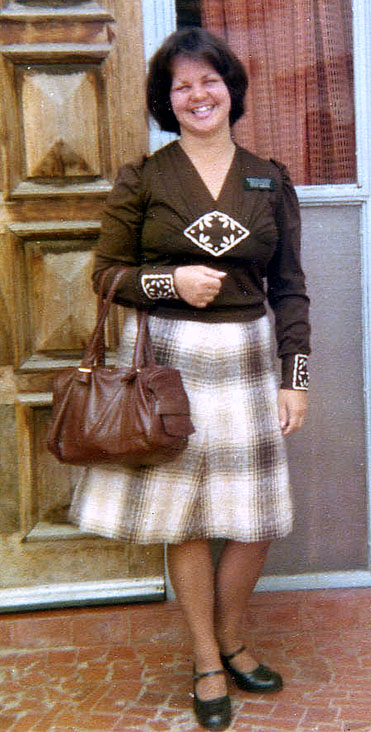 Sister Mirian Abelian Barbosa of the Brazil Sao Paulo South Mission in 1977.