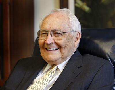 Elder L. Tom Perry of the Quorum of the Twelve celebrates his 90th birthday on Aug. 5, 2012.