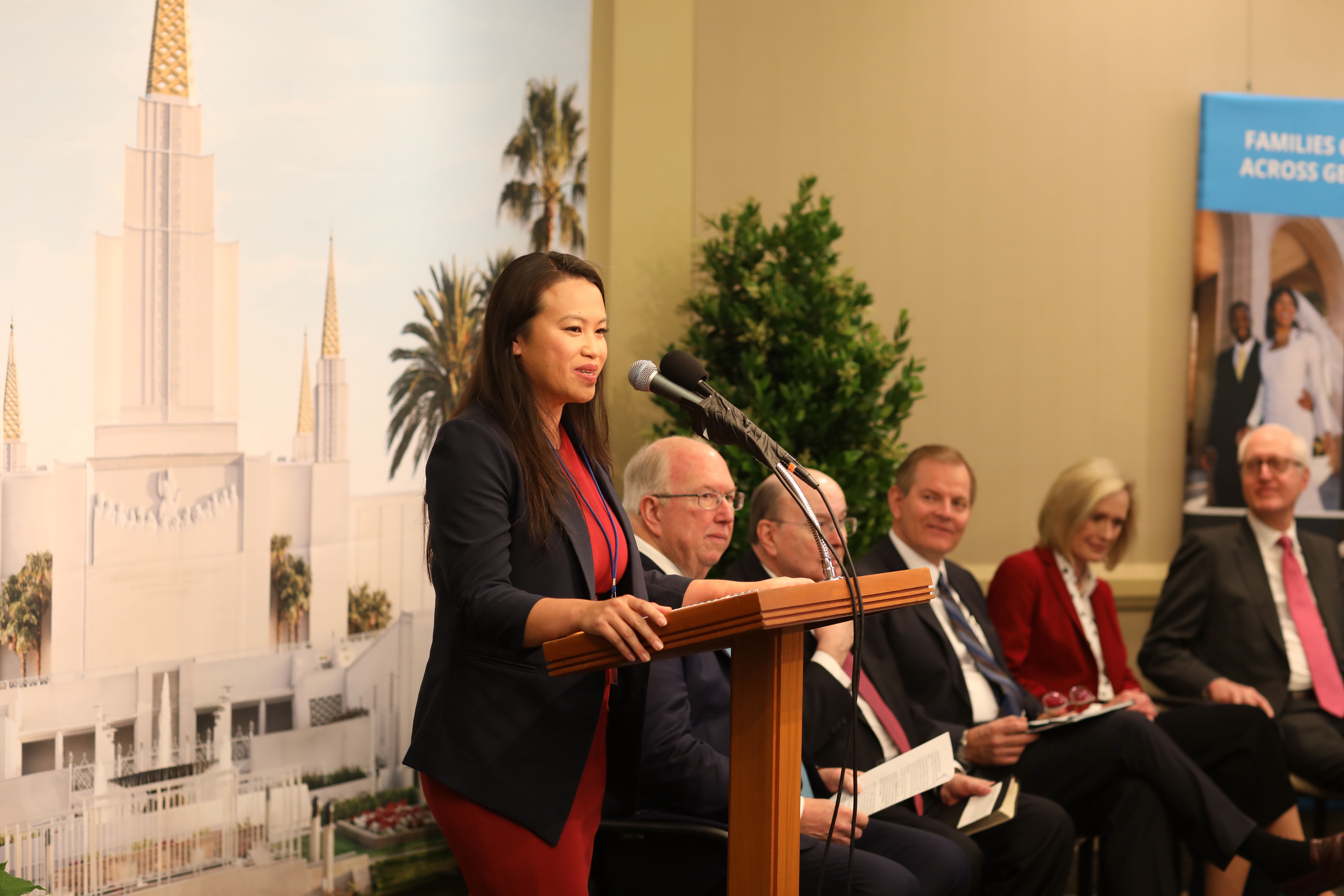 Sheng Thao, District 4 council member for the City of Oakland, provided remarks during the briefing on the Oakland California Temple May 6, 2019.