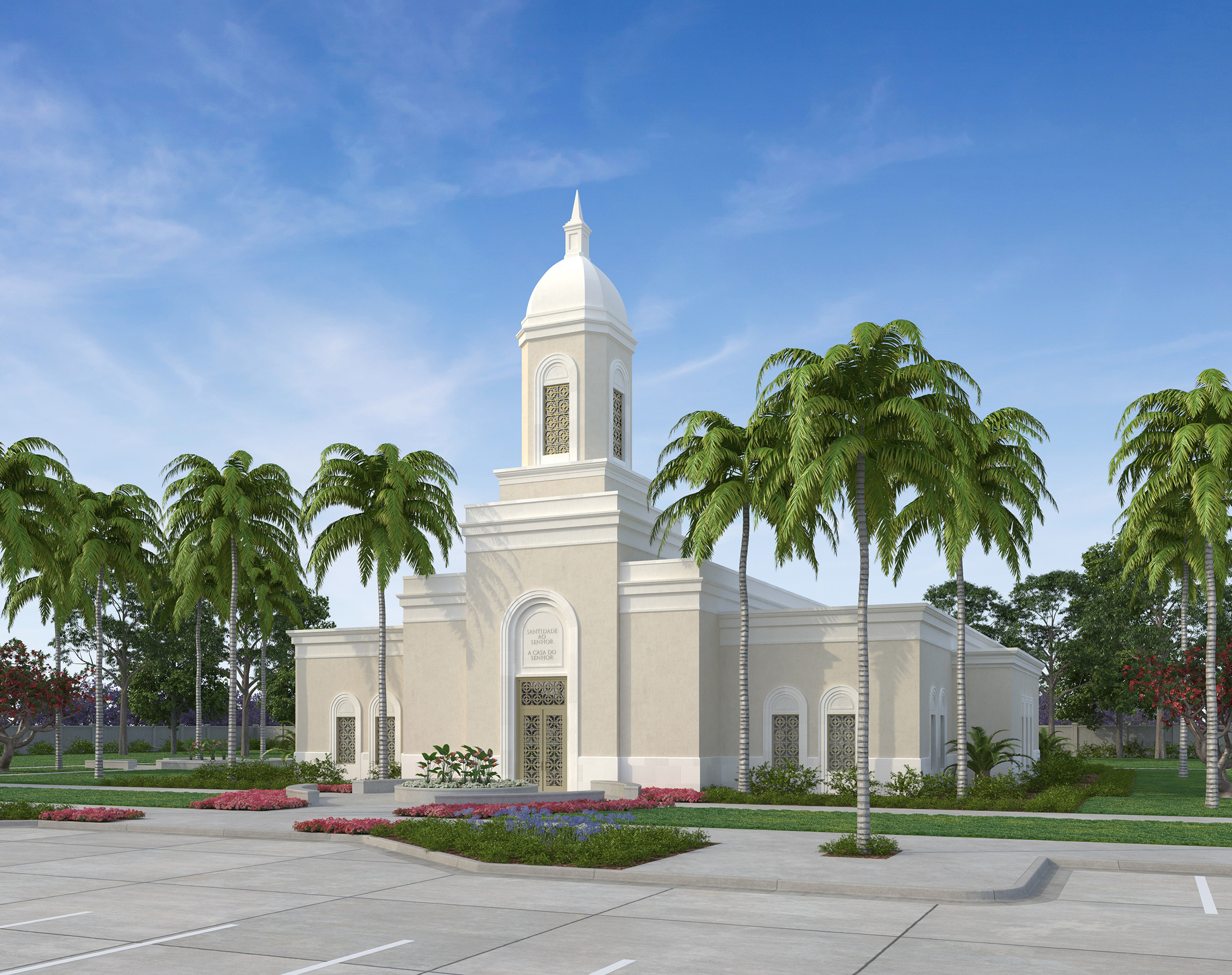 Artist rendering of the Praia Cabo Verde Temple.
