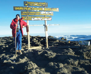 Some 30 surgeries haven't slowed prolific hiker Carl Haupt of Benson, Ariz., and neither has being 78 years of age. Not only has he a certificate from Guinness World Records showing that he is the oldest man to hike to the top of Tanzania's Mount Kilimanjaro, but in the past year he also made 146 trips from his home south to help the needy in Mexico's town of Agua Prieta.