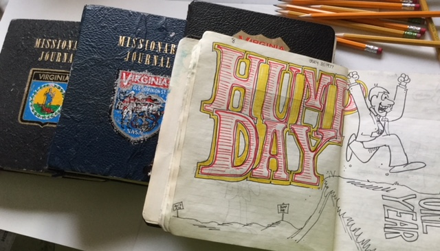 "As a missionary in Virginia, Val Chadwick Bagley kept four different cartoon journals (as well as two ""regular"" journals)."