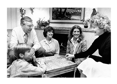 Family activities, including family home evening, are a high priority in the Ballard household of 1980.