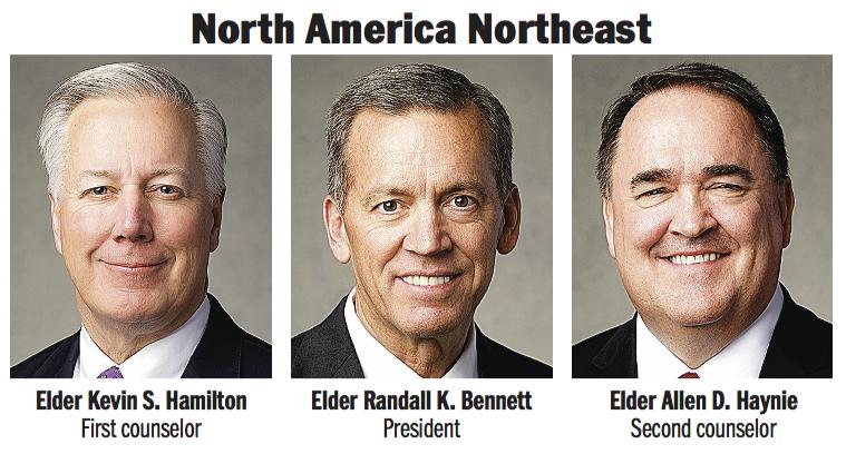 North America Northeast Area presidency: Elder Randall K. Bennett, Elder Kevin S. Hamilton and Elder Allen D. Haynie.