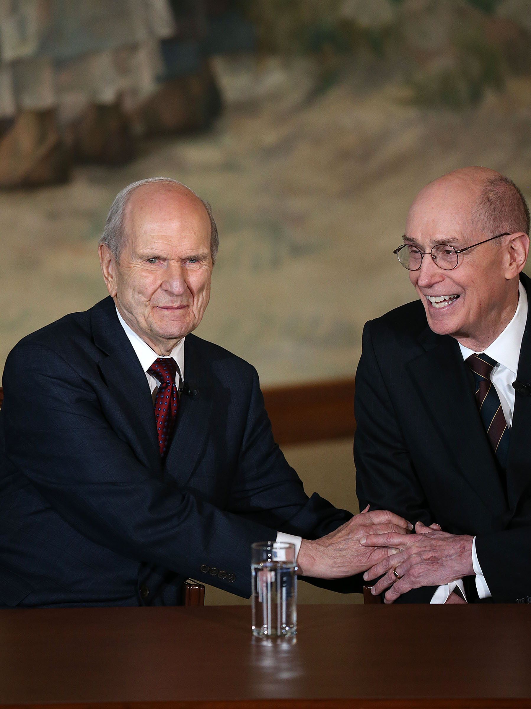 President Henry B. Eyring, second counselor in the First Presidency, at a press conference in Salt Lake City, Utah, on Tuesday, Jan. 16, 2018.