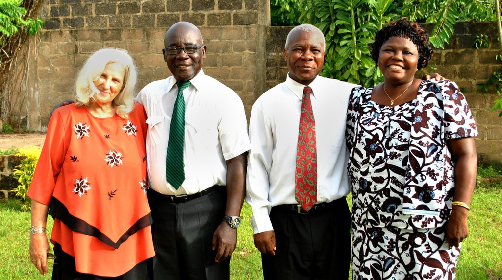 Two of the Church's pioneering couples in Ivory Coast — the Assards and the Affixes — were featured in Elder Neil L. Andersen's April 2015 general conference talk. From left, Annelies Assard, Philippe Assard, Lucien Affoue and Agathe Affoue.