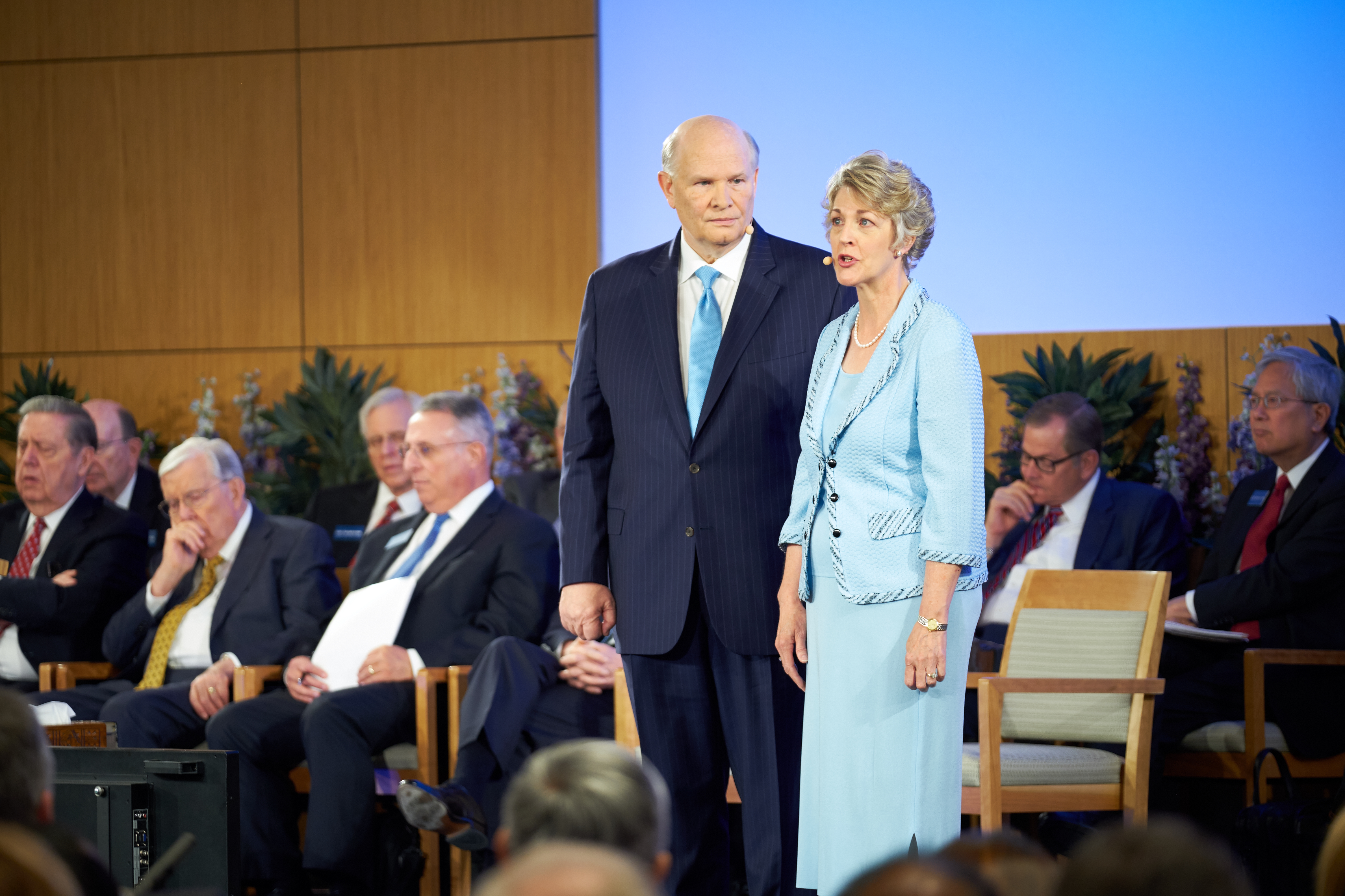 Elder Dale G. Renlund and his wife, Sister Ruth Renlund, speak during the 2018 Mission Leadership Seminar at the Provo Missionary Training Center on June 24-26.