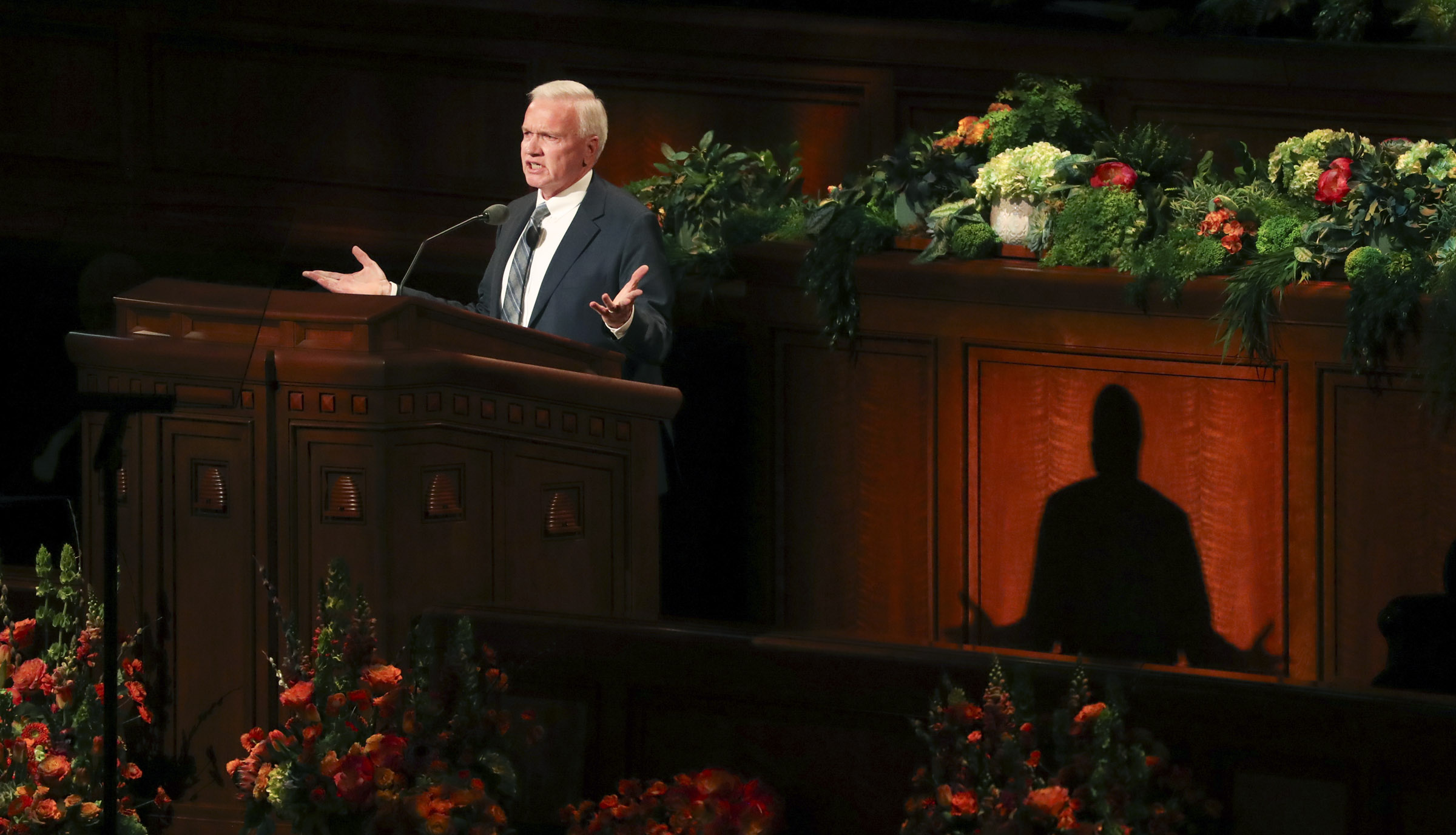 Elder Brook P. Hales, a General Authority Seventy, speaks in the Conference Center in Salt Lake City during the morning session of the 189th Annual General Conference of The Church of Jesus Christ of Latter-day Saints on Saturday, April 6, 2019.