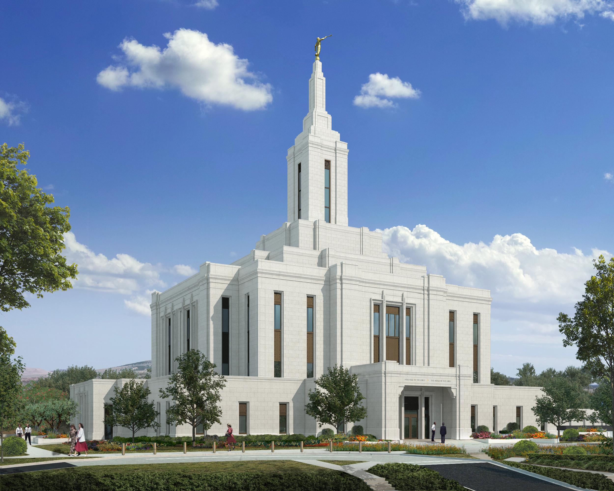 Rendering of the Pocatello Idaho Temple