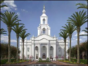 Rendering shows Tijuana Mexico Temple, which, when completed, will become the 13th temple in Mexico. Church leaders in Mexico broke ground for the new temple on Saturday, Aug. 18. More than 2,000 Latter-day Saints attended the historic event.