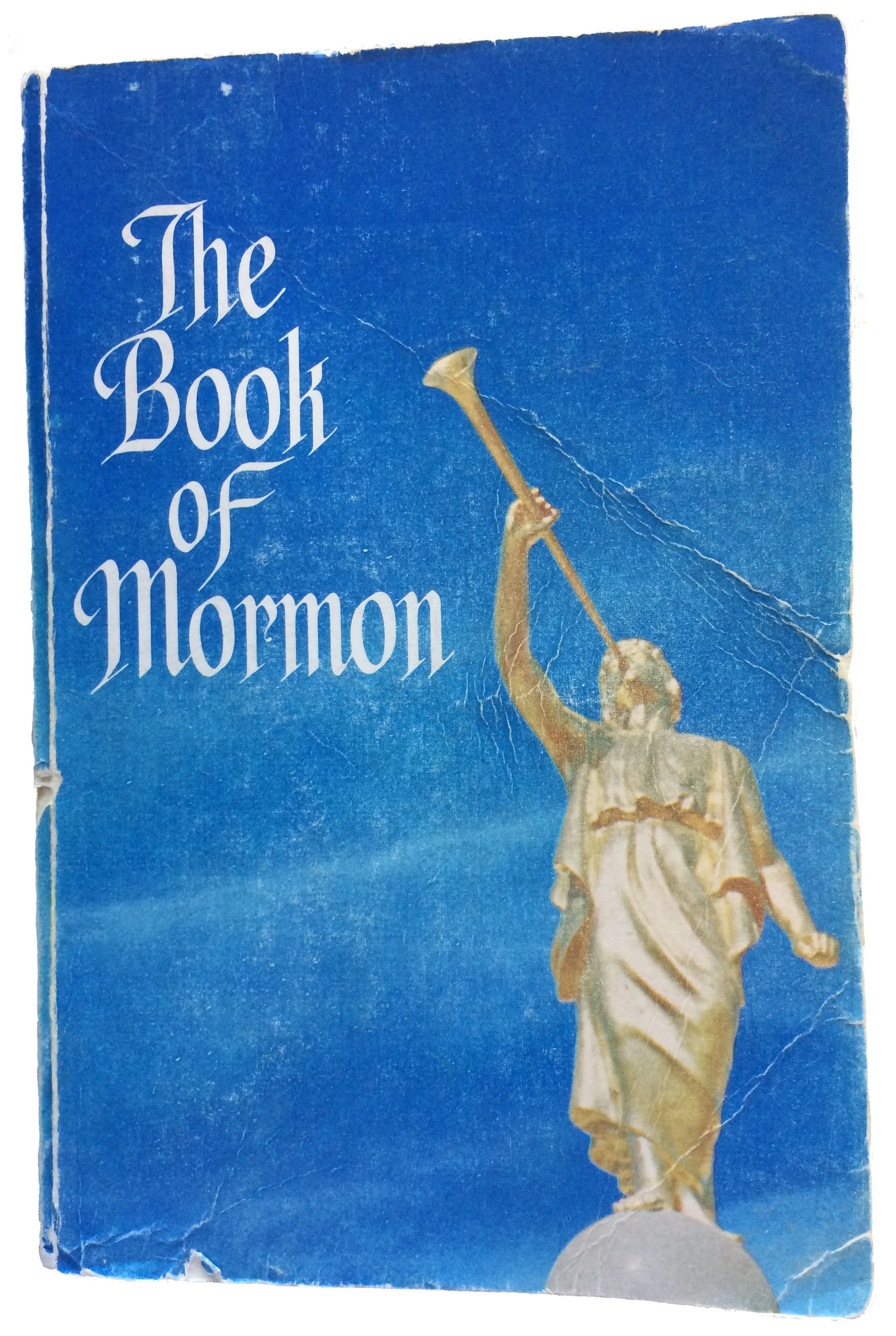 This copy of the Book of Mormon was donated to the Church in 1989 with forged annotations purportedly made by Elvis Presley.