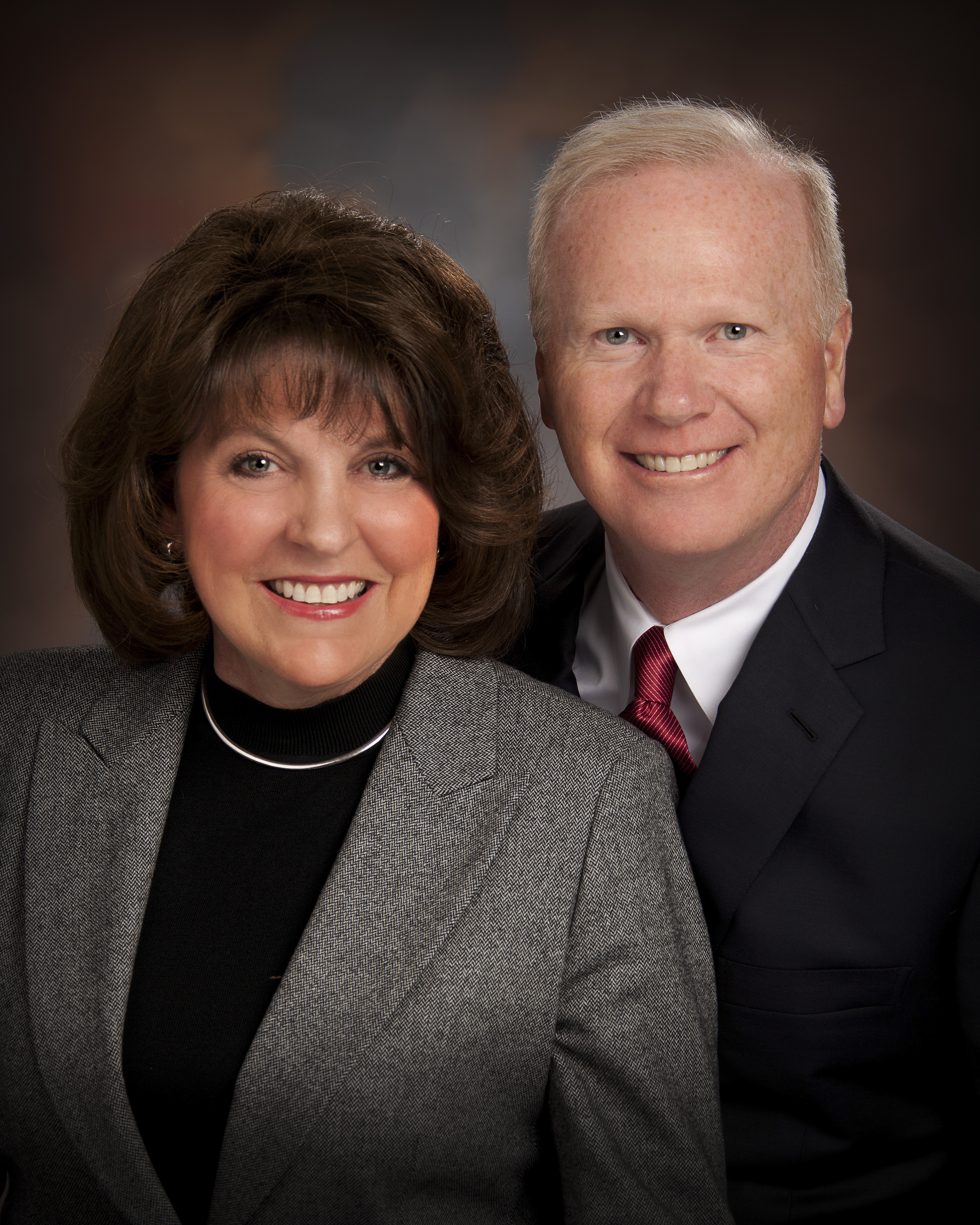 Sister Vicki G. Jackman and her husband, Brother Brad Jackman. Sister Jackman is a member of the Young Women general board.