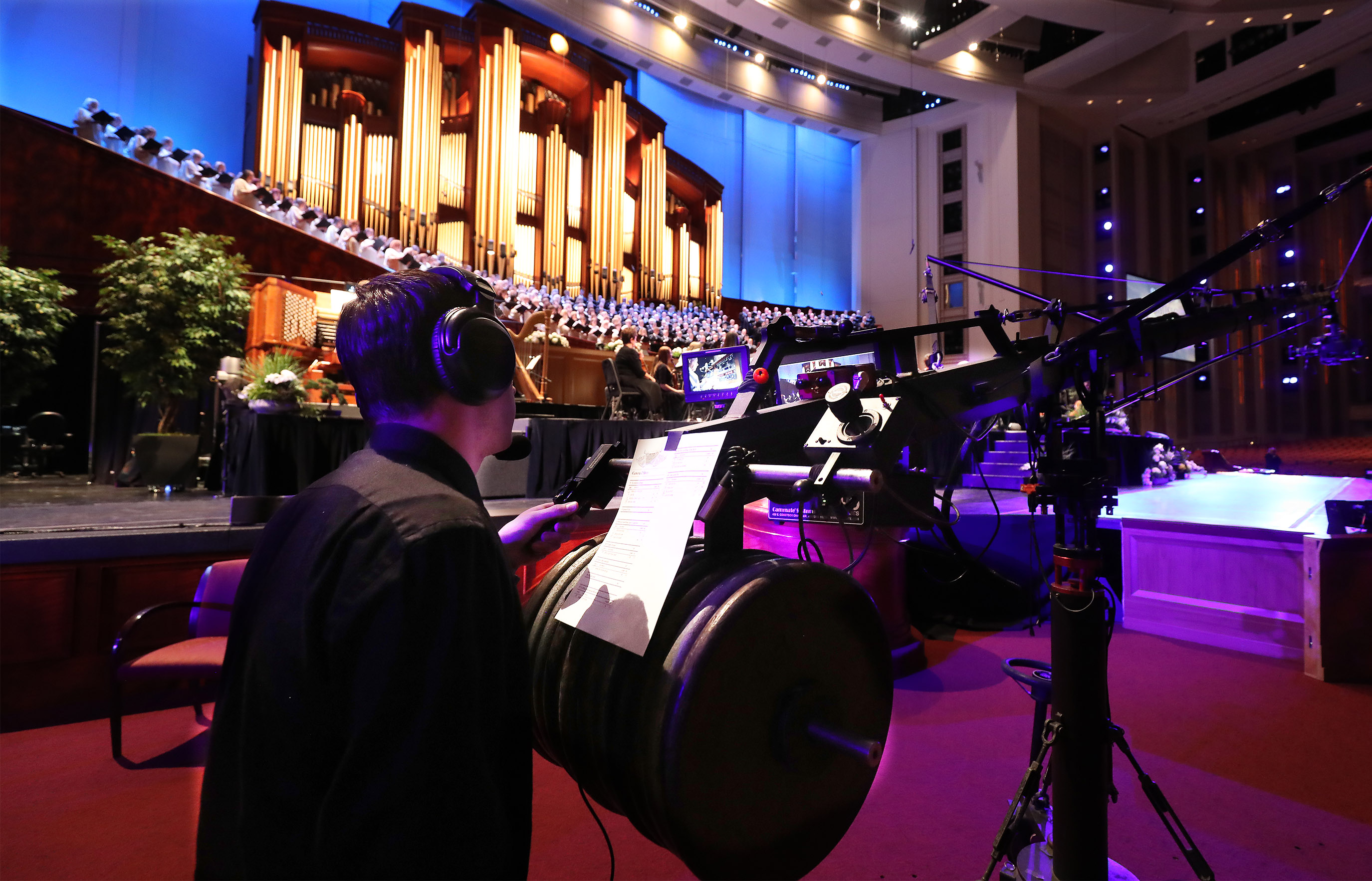 "The Tabernacle Choir at Temple Square rehearses for ""Music and the Spoken Word"" in Salt Lake City on Sunday, July 14, 2019. The choir celebrated the 90th anniversary of ""Music and the Spoken Word"" being on air."
